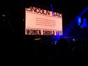 Women's Rights Take the Stage in Cleveland_Women should vote, Lincoln quote